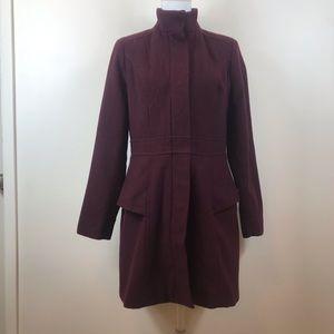 Gorgeous Rich Maroon Wool blend Coat